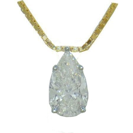 shaped diamond pear carat pendant