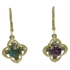 Amethyst Davinchi Cut Earrings