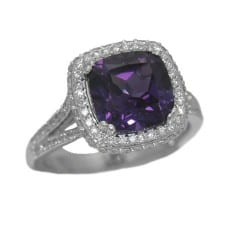Alexandrite Ring with 0.58 cttw. Diamonds