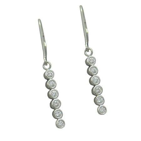 Six Bezel Diamond Earrings