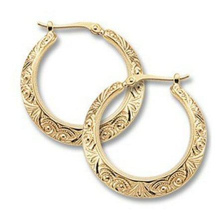 Scroll Hoop Earrings