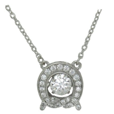 Knotted Circle dancing crystal pendant