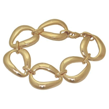 pear shaped link bracelet