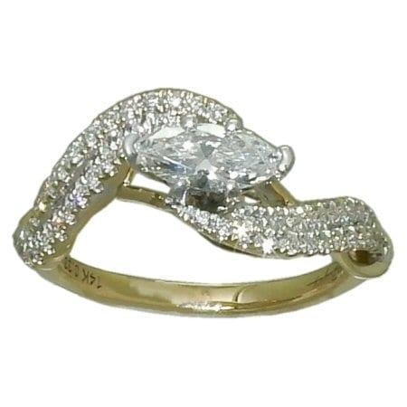 1.22 cttw. Marquise Diamond Ring