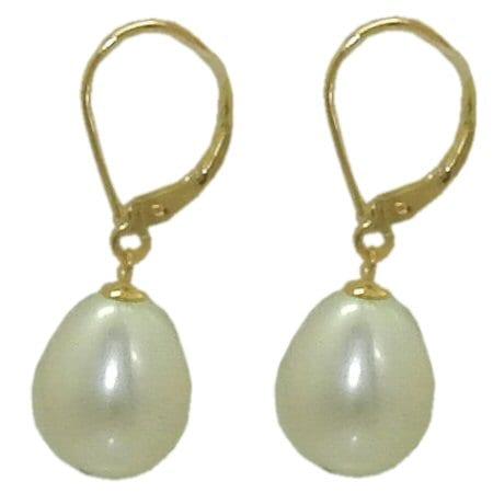 10.5 mm Pearl Drop Earrings
