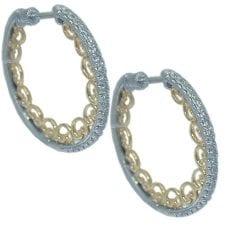 0.42 cttw. Diamond Hoop Earrings