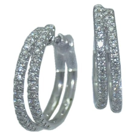 0.87 cttw. Diamond Hoop Earrings