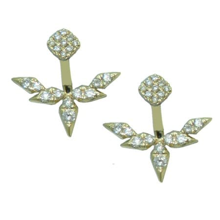 0.48 cttw. Peek a boo diamond earrings