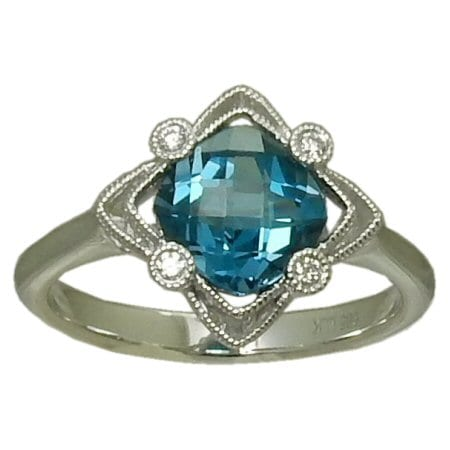1.5 Carat London Blue Topaz Ring