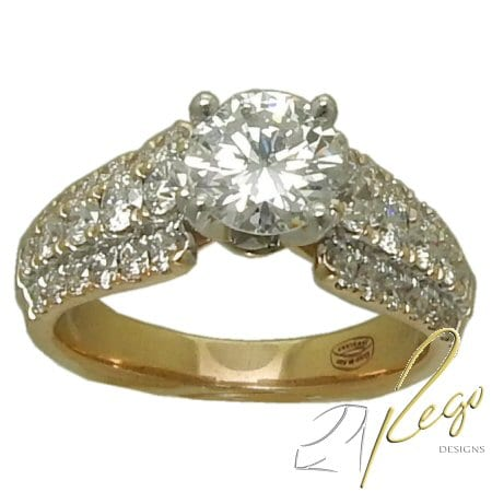 2.39 cttw. Diamond Engagement Ring