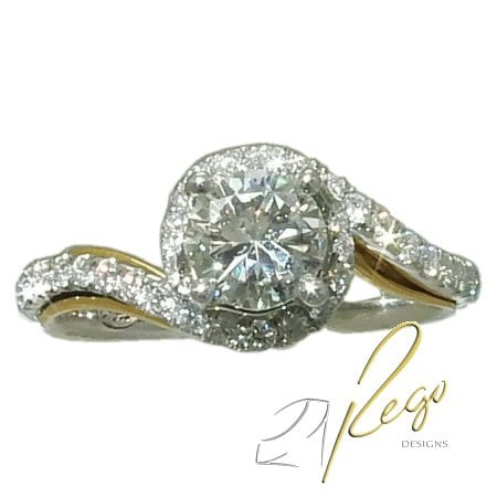 1.0 cttw. Diamond Engagement Ring