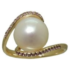 FW Pearl Ring in Rose Gold