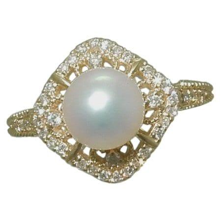 7-7.5 mm akoya pearl ring