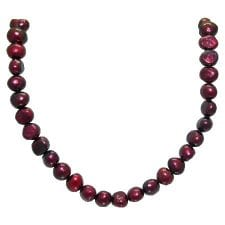 cranberry-nugget-pearl-necklace