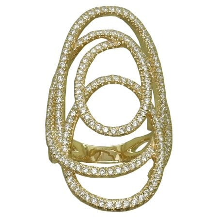 1.12 cttw. Triple Oval Diamond Ring