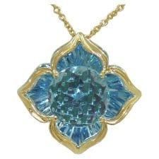 Davinchi Blue Topaz Pendant