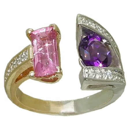 Pink Tourmaline with Amethyst