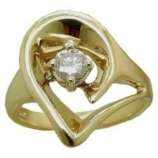 0.25 carat freeform Diamond Ring