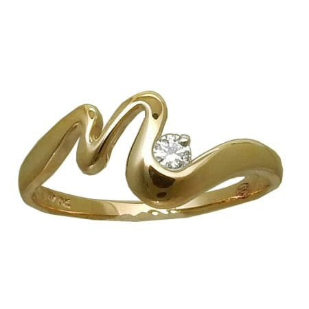 Squiggle Diamond Ring