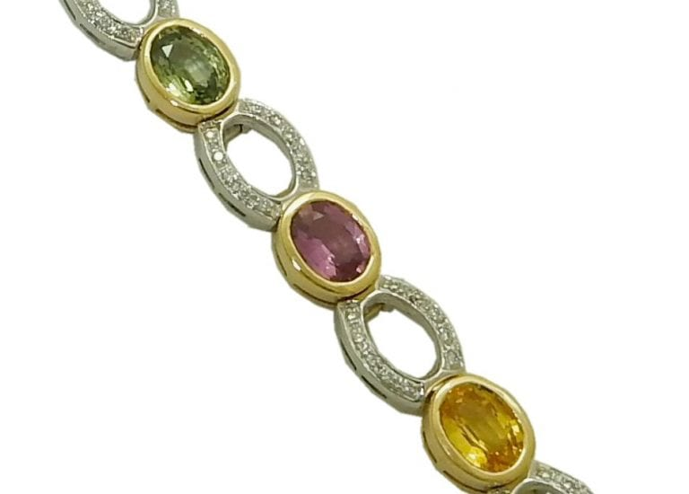 Multi Color sapphire Bracelet