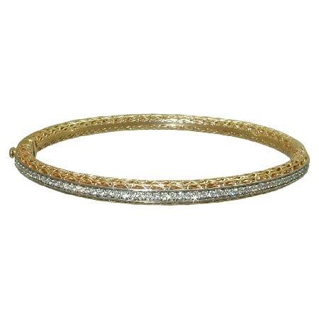 0.53 cttw. Diamond Bangle Bracelet