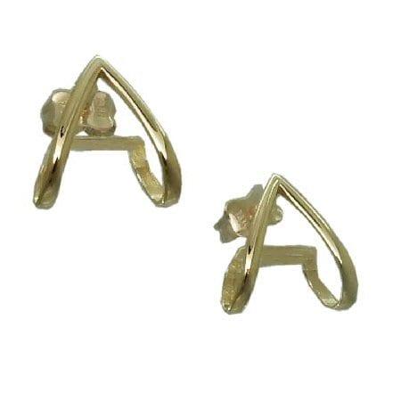 goldinart 187 14 karat gold huggie post earrings