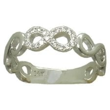 diamond infinity band