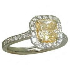 1.55 cttw. Yellow Diamond Ring