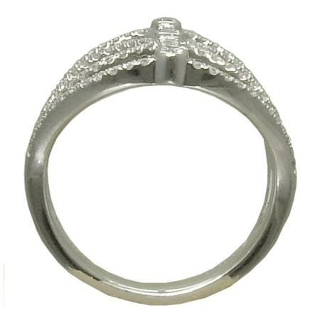 Freeform Diamond Ring in 14 kw