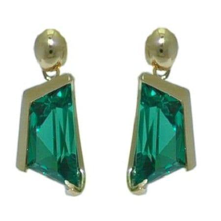 Created Green Garnet Earrings