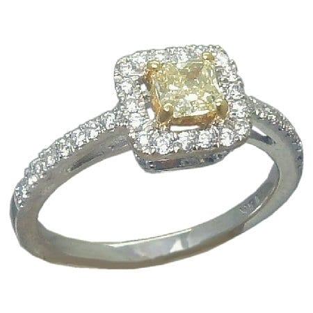 0.63 cttw. yellow dia ring