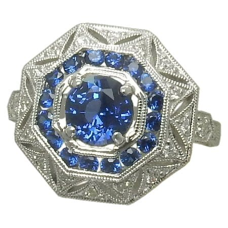 Sapphire & Dia Ring