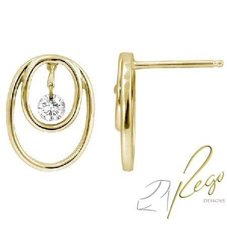 0.20 cttw diamond earrings