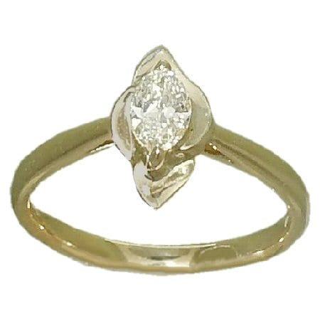 0.33 carat marquise diamond ring