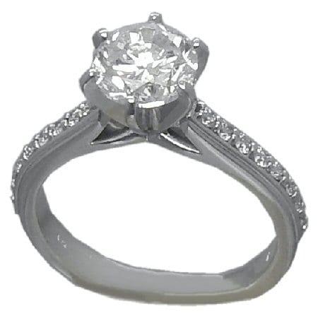 1.72 cttw. Diamond Engagement Ring