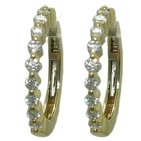 0.50 cttw. Diamond Hoop Earrings