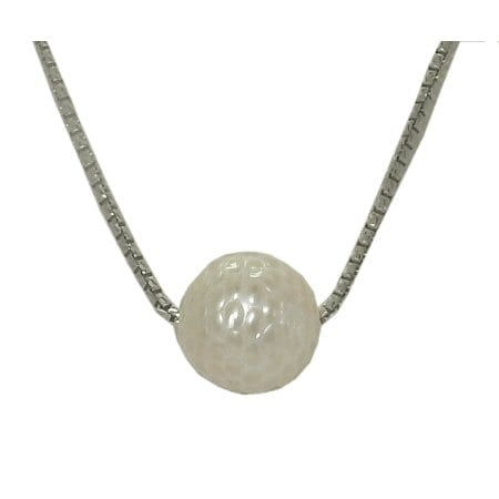 Pearl Golf Ball Necklace