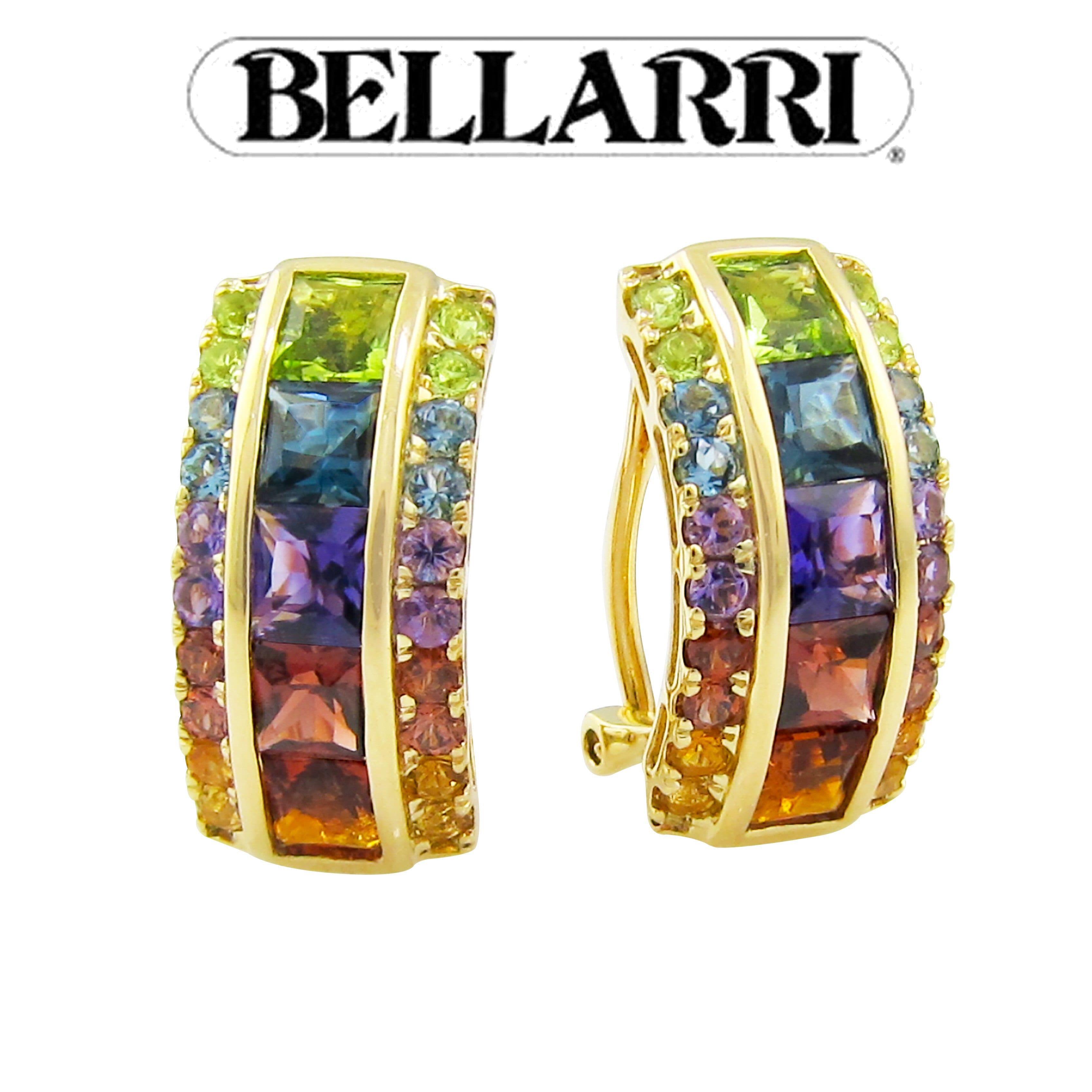Multicolor Gem Earrings