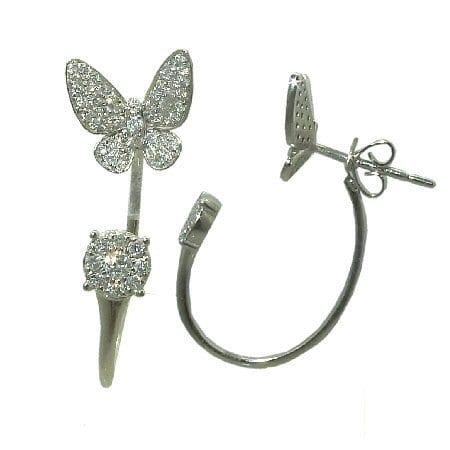 0.50 cttw. Diamond Earrings - Peek a Boo Butterfly