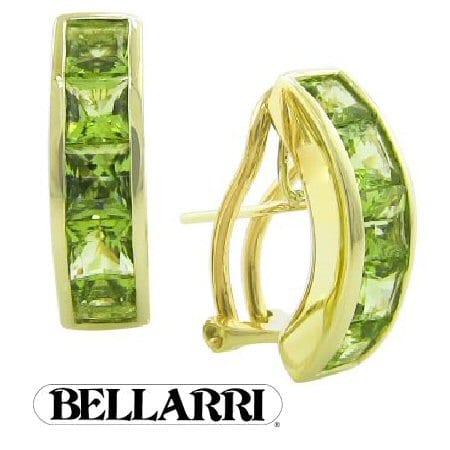 Peridot Earrings In 14 Karat Yellow Gold Goldinart
