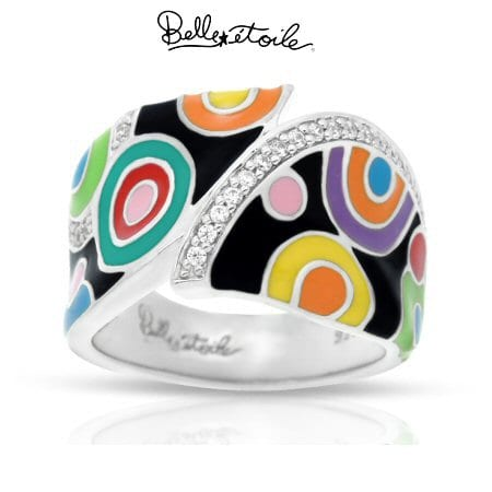 """""""Groovy"""" Ring in Sterling Silver by Belle Etoile"""