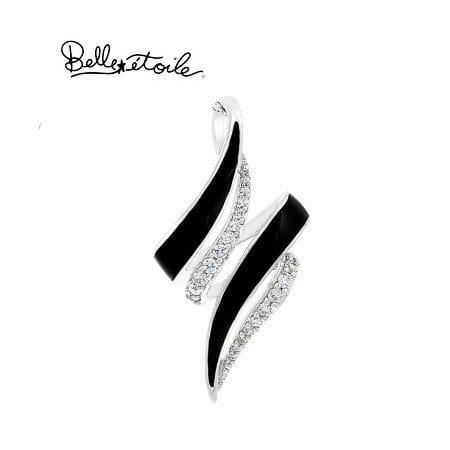 """Black """"Aria"""" Necklace in Sterling Silver by Belle Etoile"""