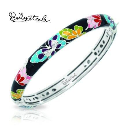 Black Butterfly Bangle Bracelet