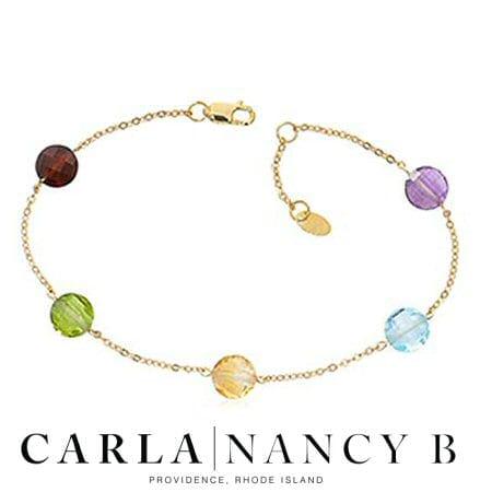 Multi Color Gemstone Multi-Gemstone Bracelet in 14 karat yellow gold