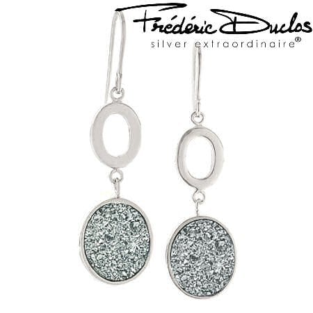 Drusy Dangle Earrings by Frederic Duclos
