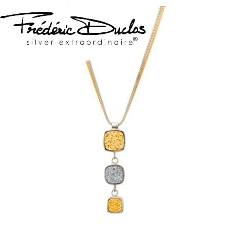 Drusy Necklace (Golden) by Frederic Duclos