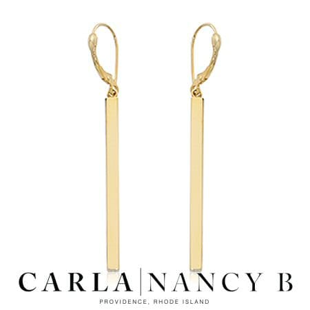 vertical bar leverback earrings