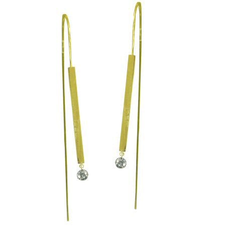 0.16 Cttw. Dancing Diamond Earrings