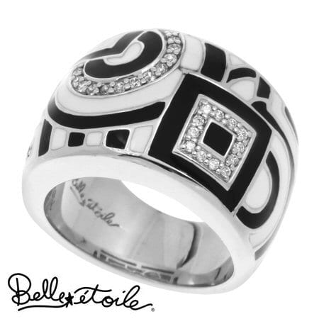 """Geometrica"" Ring in Sterling Silver by Belle Etoile"