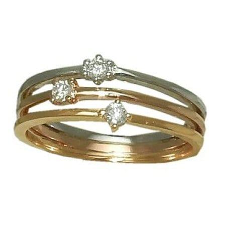 tri color diamond band